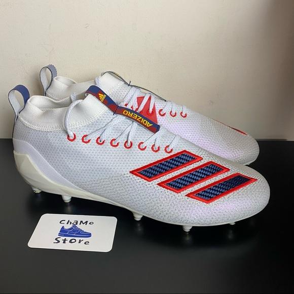 Adidas Adizero 8.0 Football Cleats White